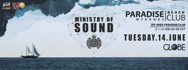 Paradise Club Presents Ministry of Sound